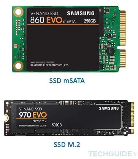 Disques SSD mSATA et M.2
