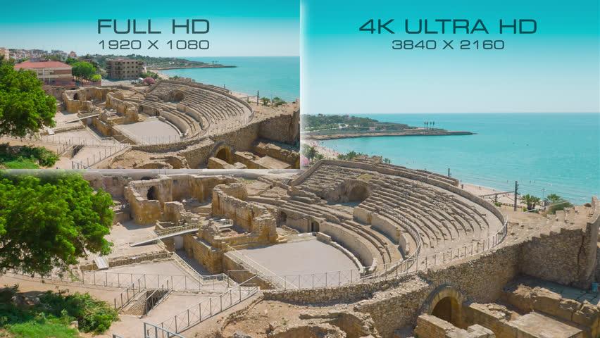 Résolution 4K vs Full HD